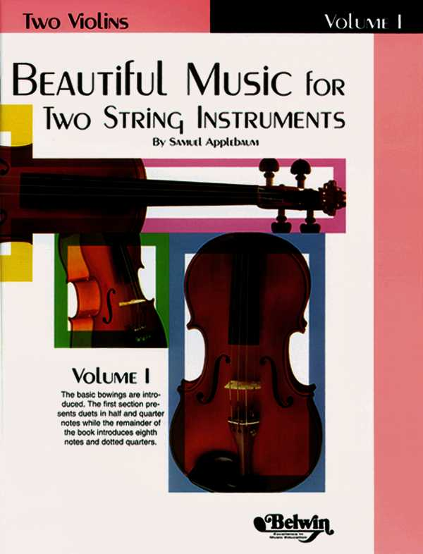 Beautiful Music for Two String Instruments: Two Violins By Applebaum, Samuel (COP)